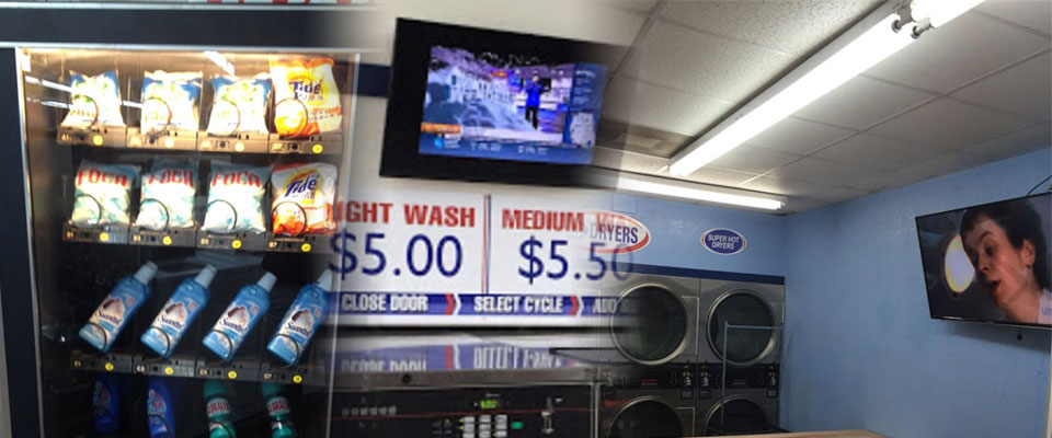 Various amenities available at Wash World Coin Laundry of Haines City